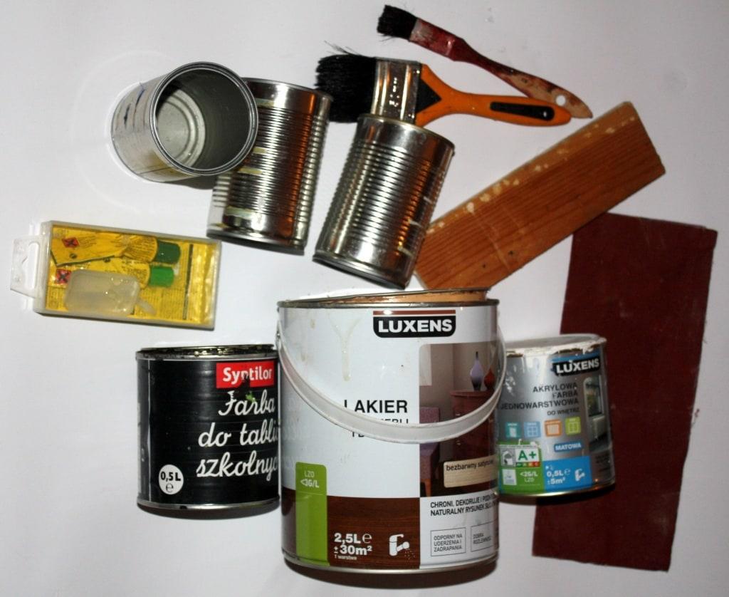 Pojemnik z puszek- elementy