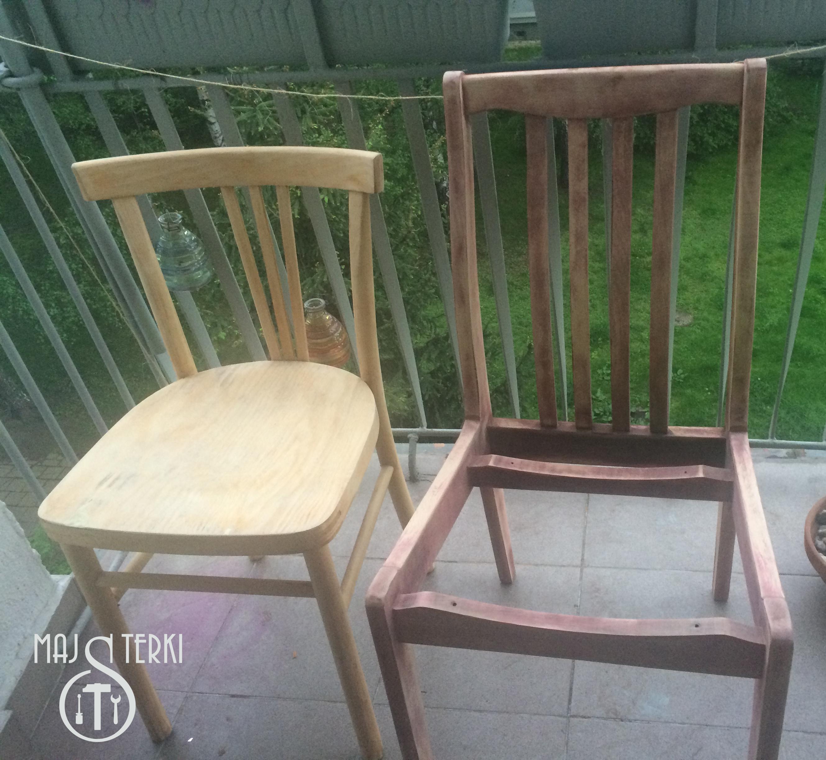 krzesła oczyszczone