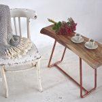 Miedź i drewno, czyli designerski stolik
