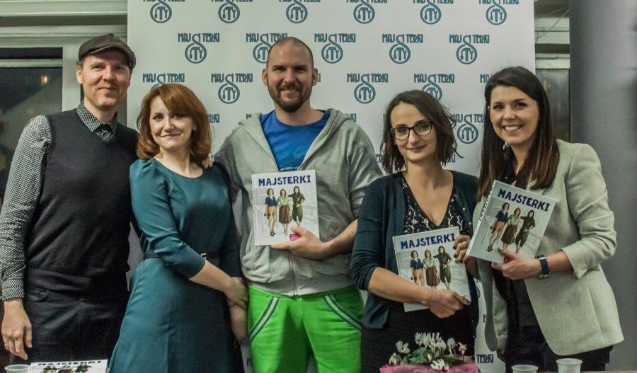 Majsterki, czyli Barbara Sowa, Alicja Rzeczkowska i Sylwia Czubkowska z Jankiem Leśniakiem i Jimmim Ogdenem