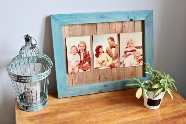 Ekologiczna ramka na zdjęcia z drewna z palet