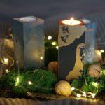 Adwentowe drewniane świeczniki- ozdoby na Boże Narodzenie